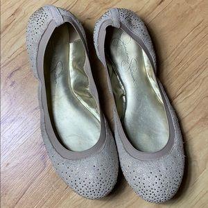 Jessica Simpson Melinda Leather Flats Size 8.5